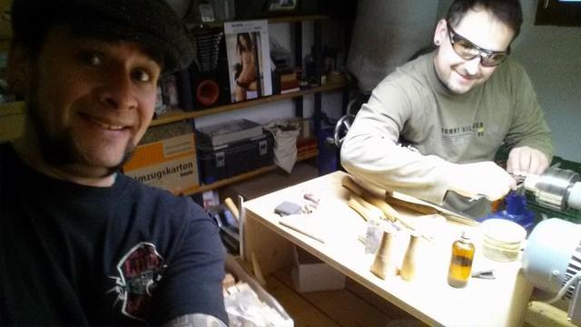 Mr. Jacky Drinker zu Besuch in unserer Werkstatt